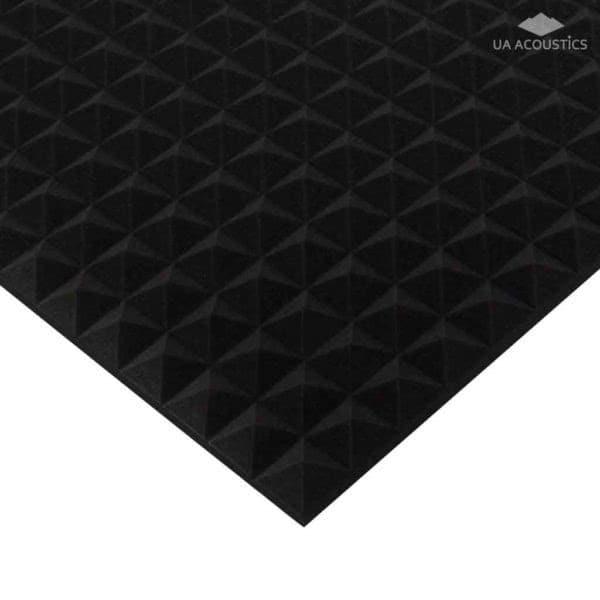 Звукоизоляционные материалы: Акустический поролон «Пирамида 30». Черный графит
