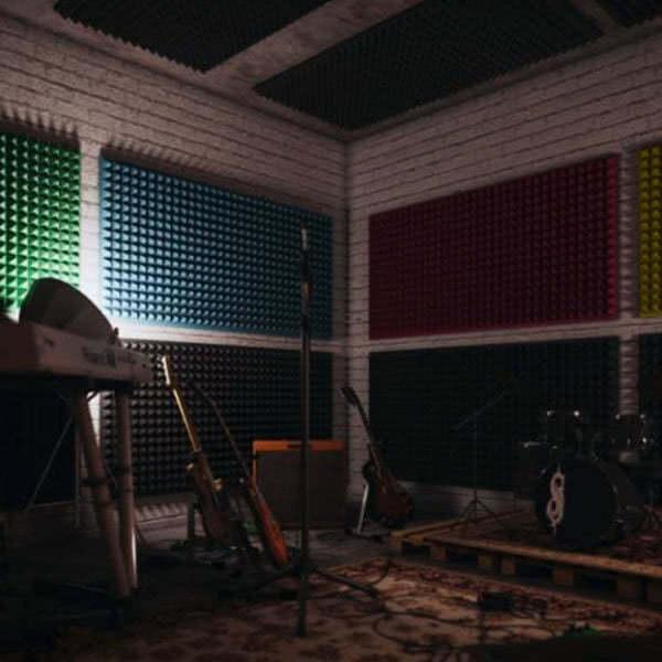 Звукоизоляционные материалы: Акустический поролон «Пирамида 50». Черный графит