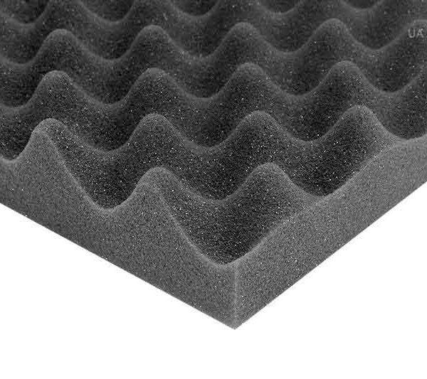 Звукоизоляционные материалы: Акустический поролон «Волна 30». Чёрный графит