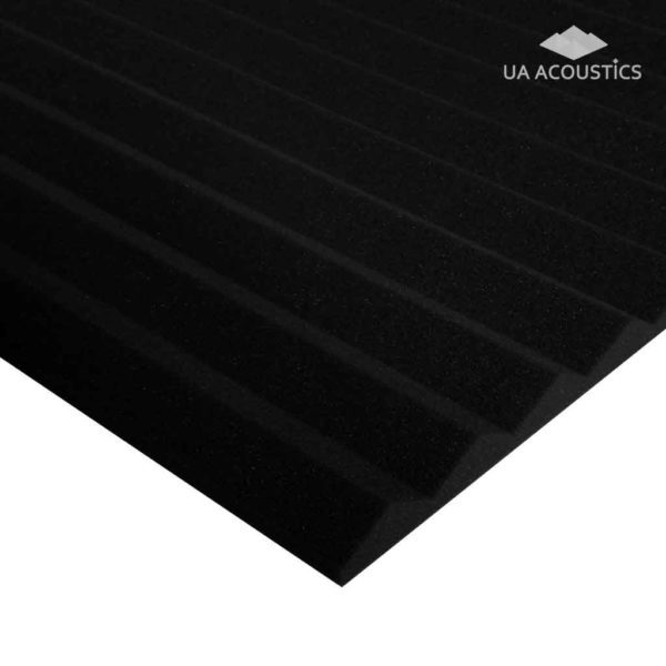 Звукоизоляционные материалы: Акустический поролон «Пила 30» Черный графит